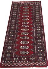 Red Turkmen Original Bokhara Rug - Hand Knotted Wool Hall Runner 63x173cm 50%OFF