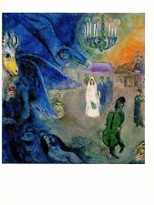 "1972 Vintage MARC CHAGALL ""THE WEDDING CANDLES"" GORGEOUS COLOR offset Lithograph"