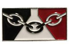 Black Country Flag 26mm Enamel Badge Birmingham Dudley West Midlands Walsall
