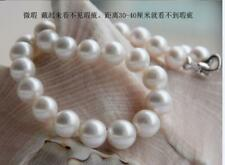 """HUGE 18""""11-12mm natural south sea genuine white round pearl necklace AAA 14K DDE"""