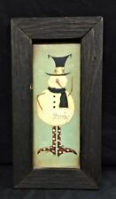 "BONNEE BERRY COUNTRY ""BRRRLY"" SNOWMAN PRINT W/WOODEN BLACK FRAME"