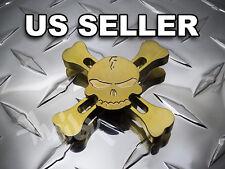 EDC Skull & Crossbones Brass Spinner Fidget Toy US
