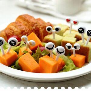 Eye Lunch Plastic Dessert Fish Decor Food Picks Fruit Fork Snack Tableware