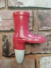 Ceramic Pink Welly Boot Plant Spike Indoor Outdoor Self Watering Novelty Gift