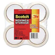 "Scotch 3650 Moving and Storage Tape 1.88"" x 54.6YD 4 Rolls MMM36504 New Item"