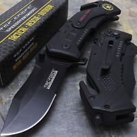 "7.5"" TAC FORCE SPRING ASSISTED FOLDING KNIFE Pocket Blade Assist Tactical Open"