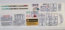 David Brown warning + Bras Autocollants/Decals