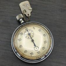 Vintage Chronograph Stopwatch Agat USSR Mechanical Single Button Soviet Sport