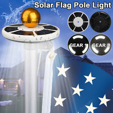 Solar Powered 111 Led Flag Pole Light Night Super Bright Flagpole Waterproof Top