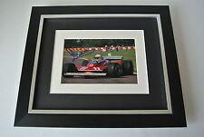 Jody Scheckter SIGNED 10X8 FRAMED Photo Autograph Display Formula 1 Sport & COA