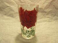 "Boscul 5"" Peaunt Butter Glass - Red Rose"