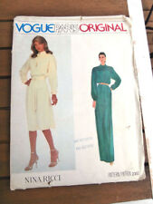 Classic Vogue Paris Original 2352 Nina Ricci misses tucked yoke belt sz 14 NEW