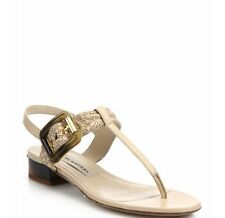 Brand New $675 Burberry Ceilab Laser-Cut Leather Buckle Sandals 38/8 Light Pink