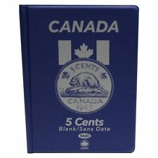 CANADIAN NICKEL / 5-CENT UNI-SAFE BLUE COIN FOLDER PROTECTOR - 4 PAGES BLANK
