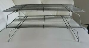 2 Tier Cooling Rack Bakeware Bake Cookie Stackable Collapsible
