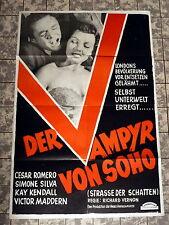 VAMPYR VON SOHO / STREET OF SHADOWS * A1-Filmposter Austria 1-Sheet 1950s Horror