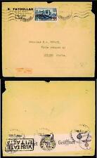 "FRANCIA - 1940/41 - Sovr. con nuovo valore - 2,50 fr. su 5 fr. ""Carcassone"""