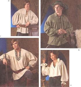 PATTERN for Historical Shirt Ethnic Simplicity 3519 Boatman Sz 30-48 XS S M L XL