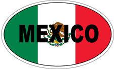 México / Bandera Mexicana en un óvalo con México escrito pegatina de vinilo - 20cm X 12cm
