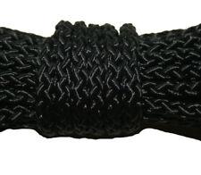 Seil Schnur Leine Polypropylen PP geflochten schwarz  6mm Meterware neu