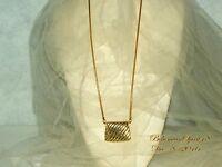 VINTAGE WONDERFUL RETRO MINIATURE ART DECO STYLE GOLD METAL REAL PURSE NECKLACE