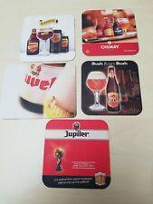 5 sous-bock  caps bière bier viltje beer Jupiler Duvel Kasteel Chimay Bush