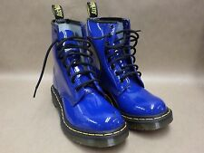 Dr Martens Ankle Boots Women Size 6 Blue 1460 Airwair Leather 8 Eye Used