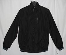 New Perry Ellis Solid Black Men's Size XLT Full Zip Poly Bonded Jacket