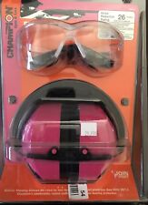 Champion Shooting Glasses & Ear Muff Set Pink