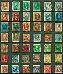 USA United STATES Stamp COLLECTION c1860s-1900s USED Postmark INTEREST Re:QV837a