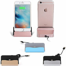 USB Cable Data Sync Desktop Stand Cradle Dock Charger For iPhone 6S 7 8 X Plus