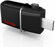 SanDisk 32GB Ultra Dual OTG USB 3.0 Flash Drive Micro USB Memory Stick - Black