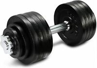 52.5lb total SINGLE Adjustable Dumbbell ONE with Cast Iron Weights YES4ALL