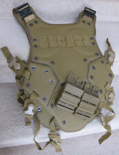 Warrior High Speed Tactical Body Armor Plate for War Game Tan