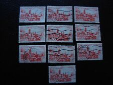 MAROC - timbre yvert et tellier n° 262A x10 obl (A29) stamp morocco (E)