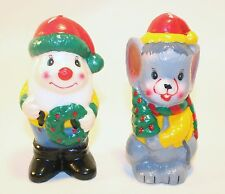 Vintage Kindles Christmas Hand Painted Candles Mr Elf Merry Mouse 1983