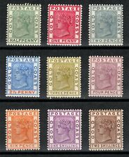Gold Coast 1884/91 set of 9 LMM SG11/19a Cat £220.00