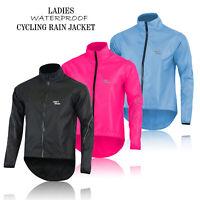 Ladies Cycling Waterproof Rain Jackets High Visibility Running Top Women Coat