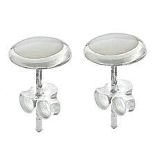 USA Seller Mother of Pearl Stud Earrings Sterling Silver 925 Best Deal Jewelry