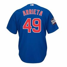 MLB Majestic Current Players Official Cool Base Team Home Away Alt Jersey Men's Chicago Cubs Jake Arrieta Blue M