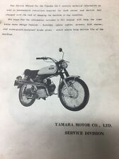 Yamaha Original 1970 G6S Service Manual!! RARE! / Motorcycle Repair Maintenance