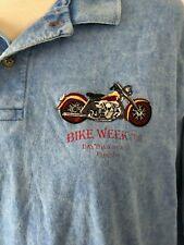 Harley Davidson Daytona Beach bike week 1998 Vintage Short Sleeve Polo Shirt L