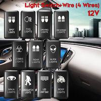 White LED Fog Light Bar Push Switch For Toyota Landcruiser Hilux Prado 120  //