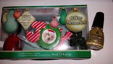 China Glaze Makin' Memories Red Satin Winter Holly & 5 Golden Rings Nail Polish