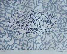 """MARK TOBEY """"Blossoming"""" HAND SIGNED 1970  etching w. aquatint expressionism USA"""