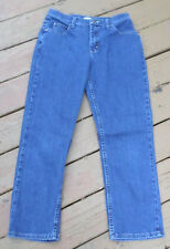 Womens Riders Relaxed Blue Jeans Size 8P Cotton Blend Medium Wash (32x27)