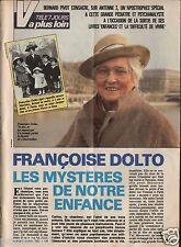 Coupure de presse Clipping 1987 Françoise Dolto mère de Carlos  (2 pages)