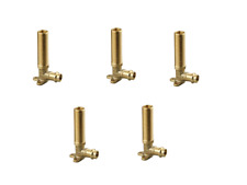 """Bag 5 Brass Plumbing Fitting Wall Plated Male Elbow for Water 1/2""""  (BN19-15050)"""