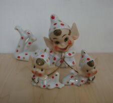 Vintage Elves Set 1950'S Hand Painted With Adorable Faces ~ A Fairyland Import