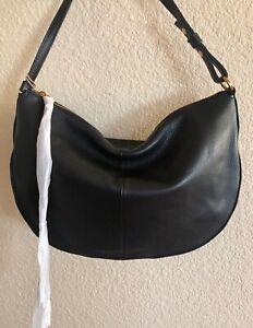 Nwt Women's Hobo International Leather Crossbody Shoulder Bag Purse Cosmo, Black